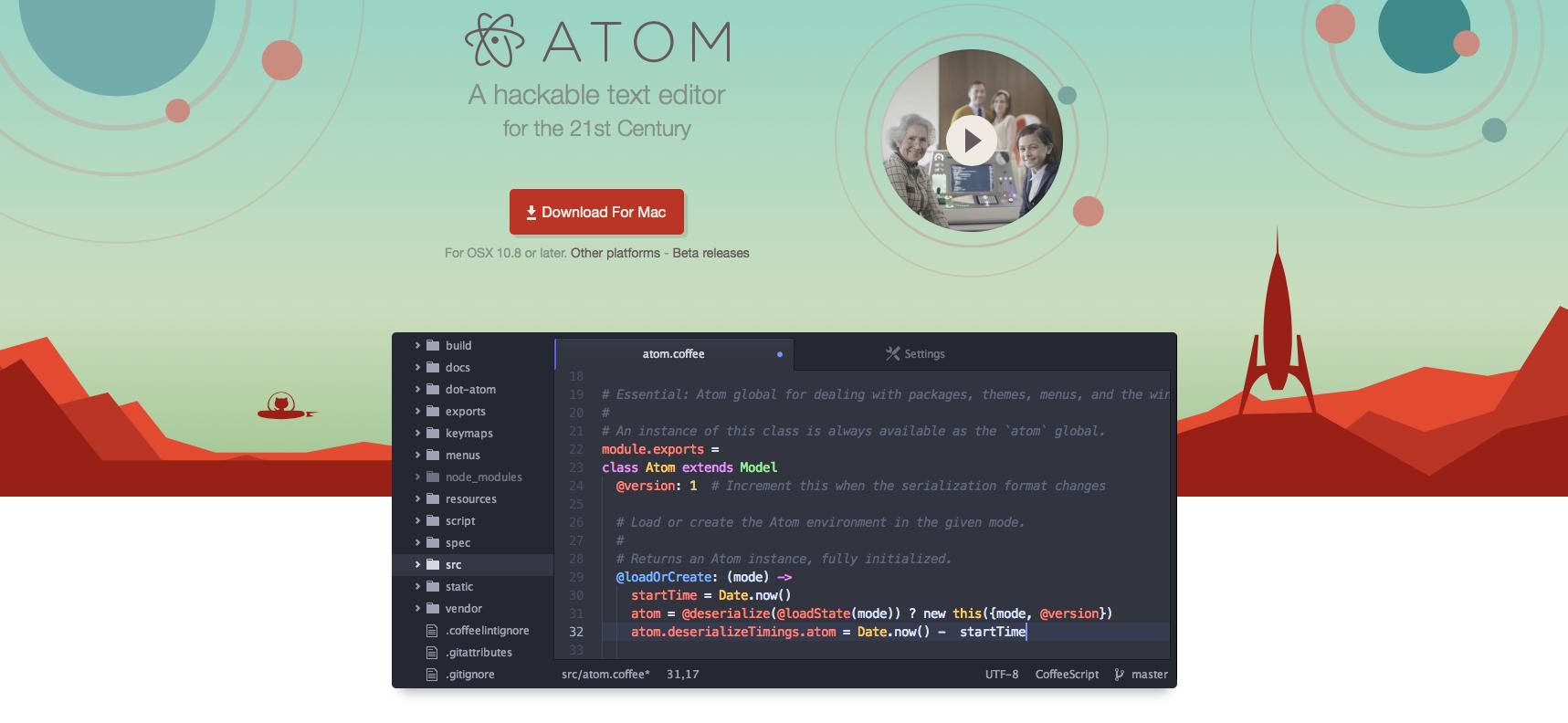 テキストエディタ「Atom」を使ってみた