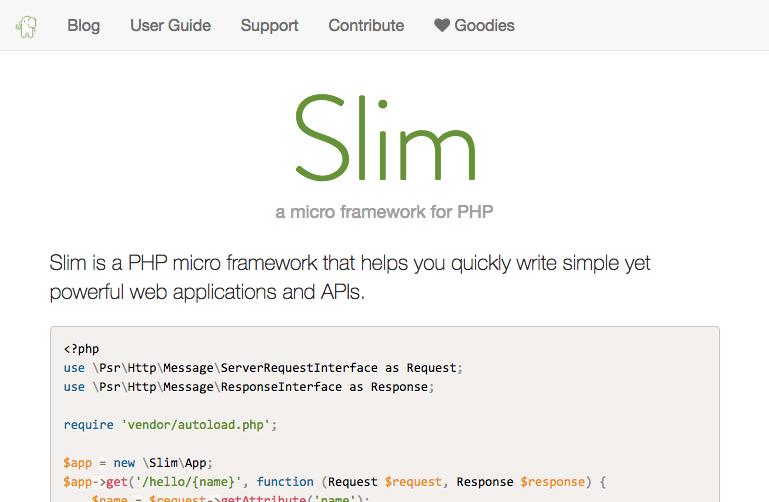 PHPのマイクロフレームワーク「Slim」を使ってみたら本当にスリムだった話
