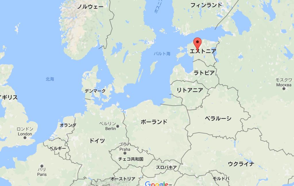 エストニアGooglemap